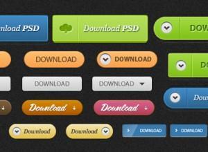 Скачать множество кнопок, стикеров, разнообразных элементов в PSD формате