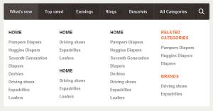Создание выпадающего мега меню на CSS3