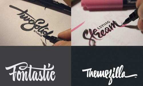 Дизайн логотипов нарисованный от руки