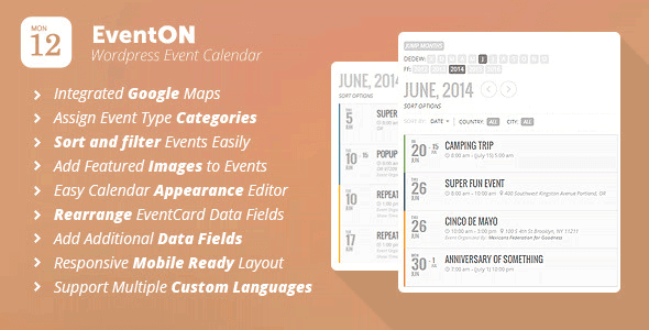 EventOn v2.3.15 – WordPress Event Calendar Plugin