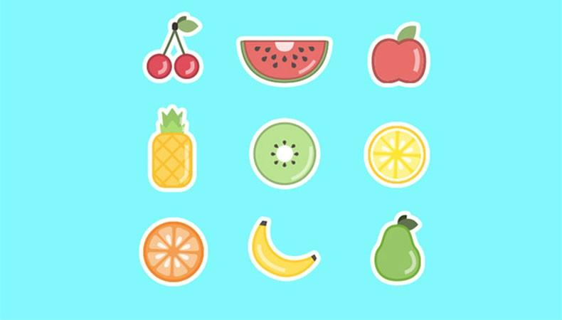 Множество самых вкусных иконок на кухонную тематику