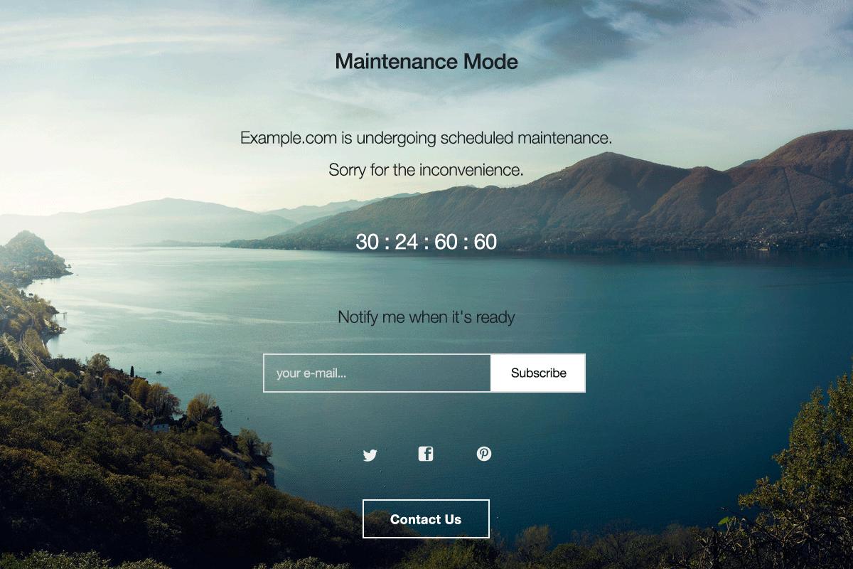 WordPress: закрываем сайт на техническое обслуживание